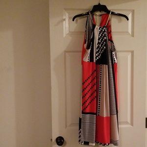 Calvin Klein Multi color strapless Dress